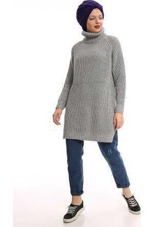 Por La Cara Tesettür Örgü Tunik Modelleri
