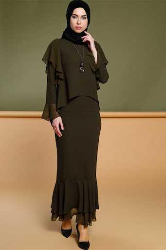 Puane Tesettür Etek Bluz Takım Modelleri