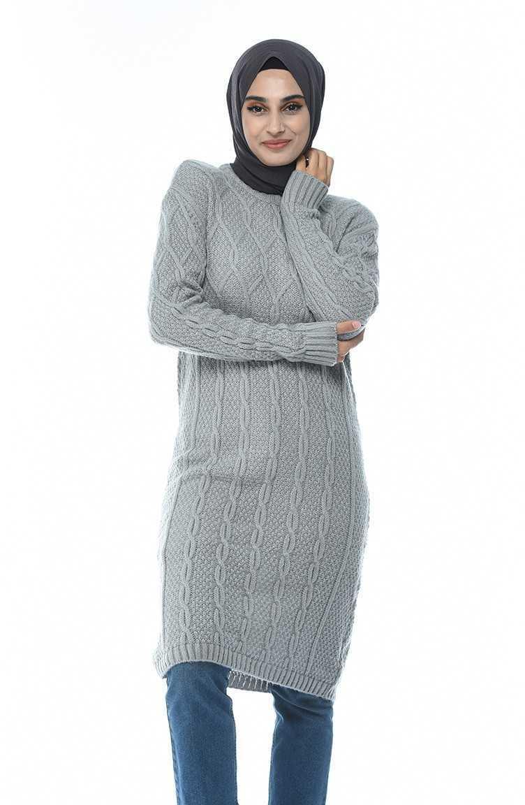 Şık Sefamerve Örgü Desen Triko Tunik Modelleri