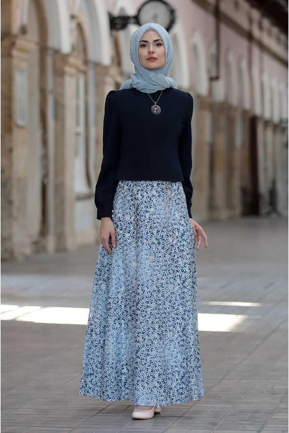 Sure Tesettür Etek Bluz Takım Modelleri