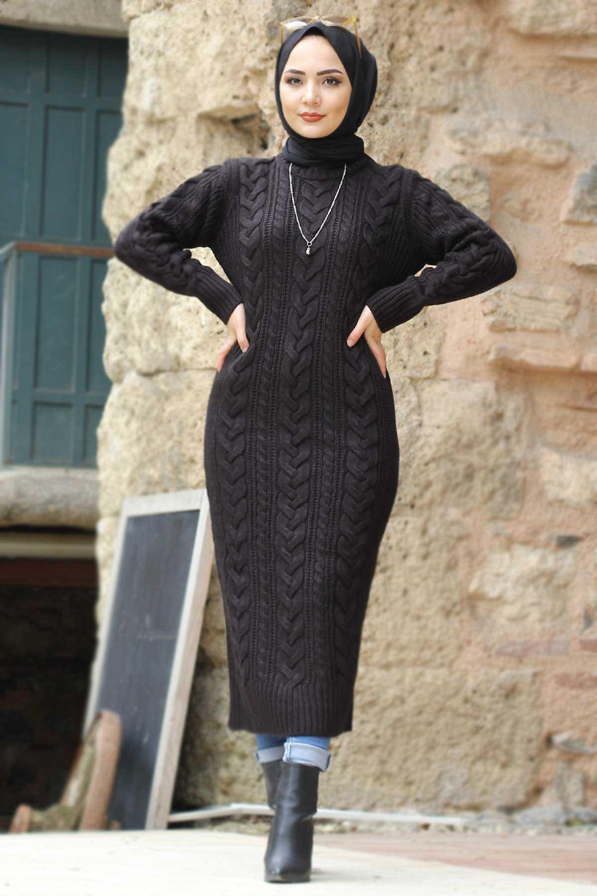 Tesettür Dünyası Örgü Desen Tunik Modelleri