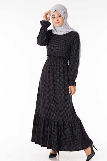 Tesettür Pazarı Büzgülü Elbise Modelleri