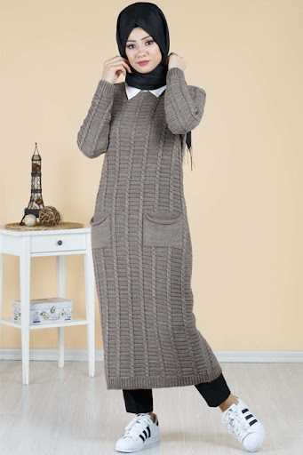 Tesettür Pazarı Örgü Desen Tunik Modelleri