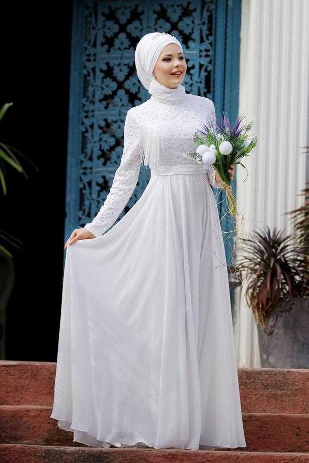 TrendTesettür İşlemeli Abiye Elbise Modelleri